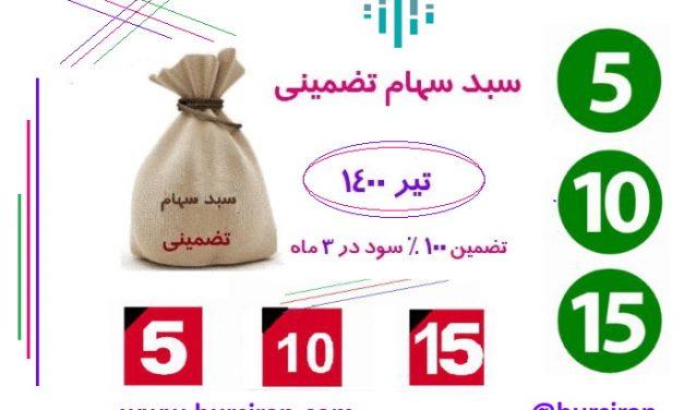 سبد سهام تضمینی ماهانه تیر 1400 ( 15 سهم )